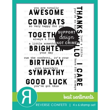 Reverse Confetti BEST SENTIMENTS Clear Stamps