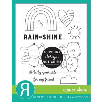 Reverse Confetti RAIN OR SHINE Clear Stamps