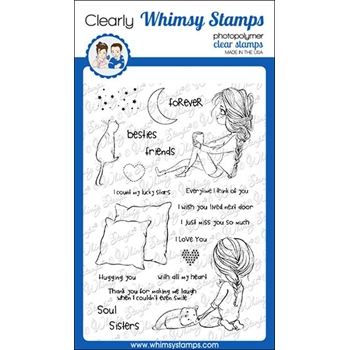 Whimsy Stamps SOUL SISTER Clear Stamps CWSD326