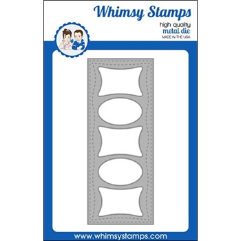 Whimsy Stamps SLIMLINE PILLOWS Dies WSD473