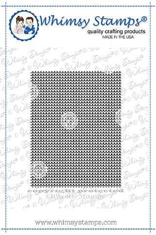 Whimsy Stamps CROSS STITCHED HEARTS Background Cling Stamp Preview Image