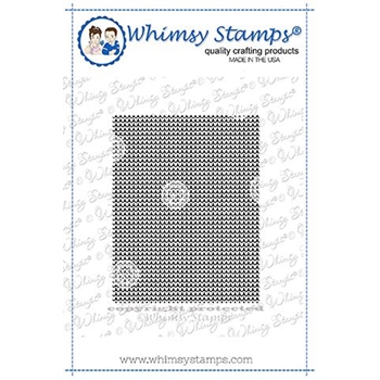 Whimsy Stamps CROSS STITCHED HEARTS Background Cling Stamp