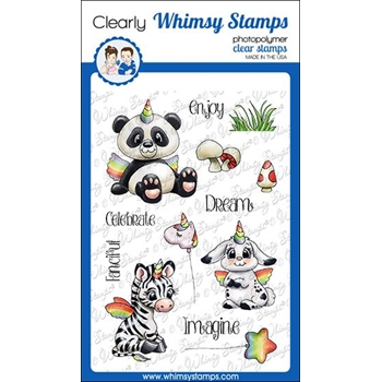Whimsy Stamps CRITTERCORNS Clear Stamps C1359