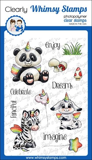Whimsy Stamps CRITTERCORNS Clear Stamps C1359 zoom image