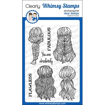Whimsy Stamps BRAIDED Clear Stamps CWSD327