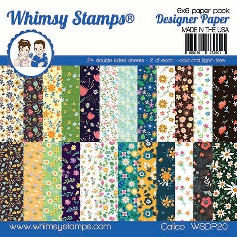 Whimsy Stamps CALICO 6 x 6 Paper Pads WSDP20 zoom image