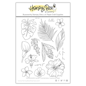 Honey Bee PARADISE BLOOMS Clear Stamp Set hbst260