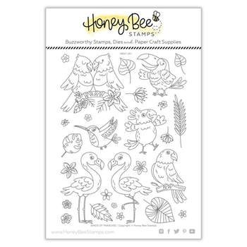 Honey Bee BIRDS OF PARADISE Clear Stamp Set hbst261