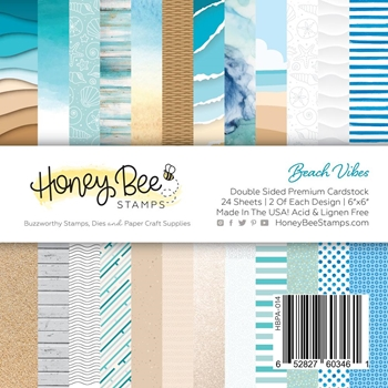 Honey Bee BEACH VIBES 6 x 6 Paper Pad hbpa014