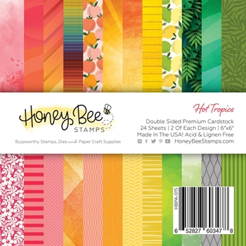 Honey Bee HOT TROPICS 6 x 6 Paper Pad hbpa015
