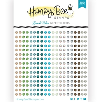 Honey Bee BEACH VIBES Gem Stickers hbgs015