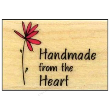 Hero Arts Rubber Stamp HANDMADE FROM THE HEART a3092