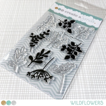 Create A Smile WILDFLOWERS Clear Stamps clcs146