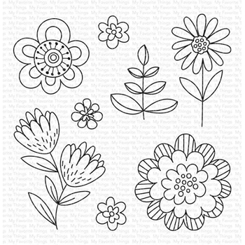 My Favorite Things FUN FLOWERS Clear Stamps cs487