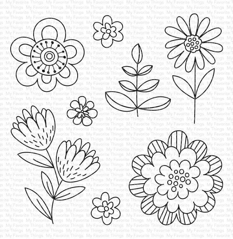 My Favorite Things FUN FLOWERS Clear Stamps cs487 zoom image