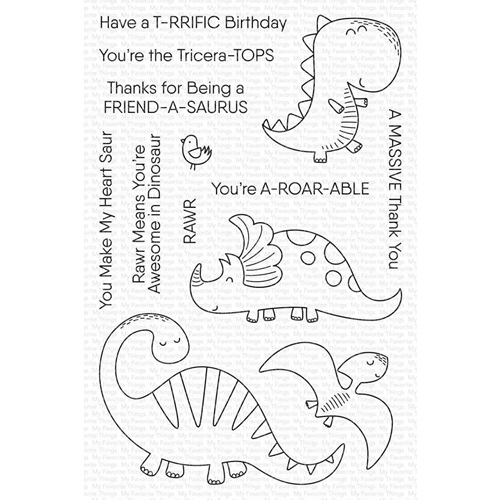 My Favorite Things A-ROAR-ABLE FRIENDS Clear Stamps cs483 Preview Image