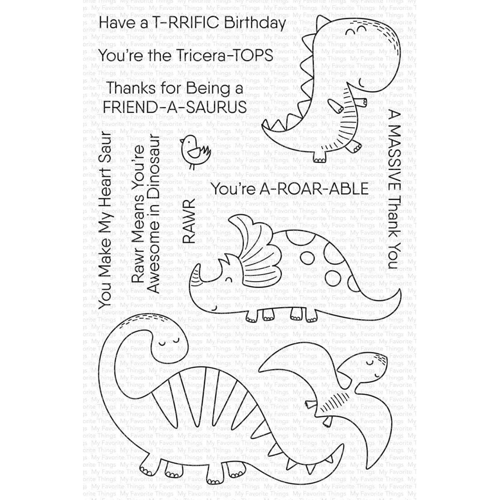 My Favorite Things A-ROAR-ABLE FRIENDS Clear Stamps cs483 zoom image
