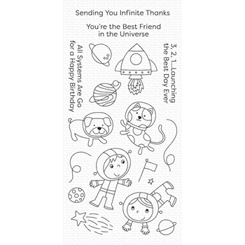 My Favorite Things BEST FRIENDS IN THE UNIVERSE Clear Stamps cs488
