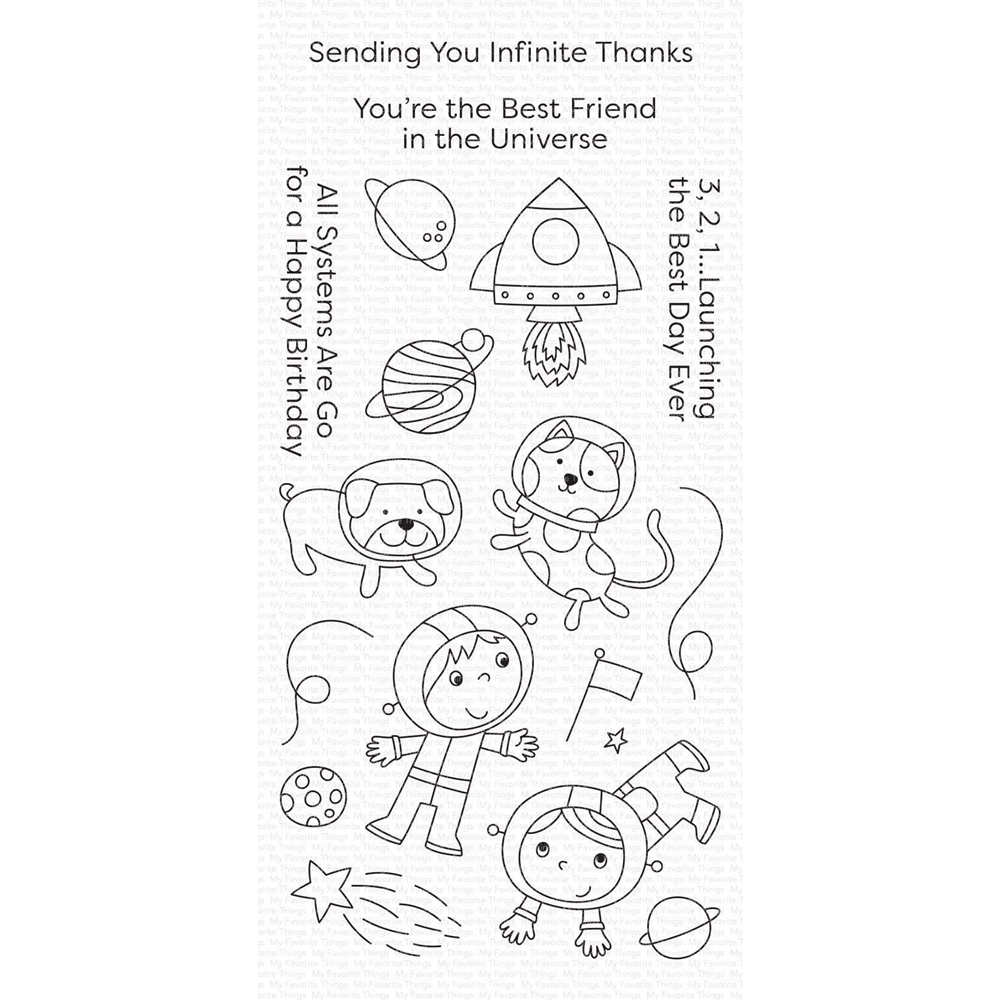 My Favorite Things BEST FRIENDS IN THE UNIVERSE Clear Stamps cs488 zoom image
