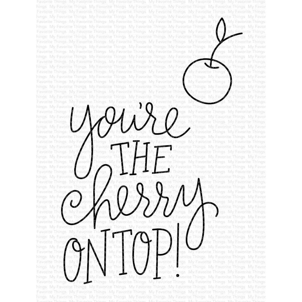 My Favorite Things CHERRY ON TOP Clear Stamps cs491 zoom image