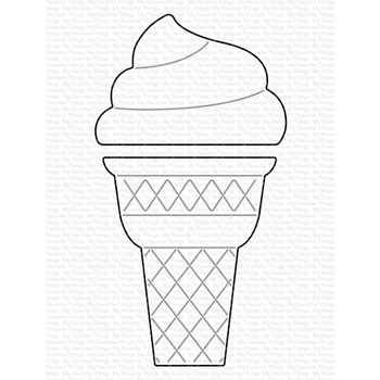 My Favorite Things ICE CREAM CONE Dies Die-Namics mft1783