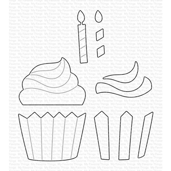 My Favorite Things FROSTED CUPCAKE Dies Die-Namics mft1778