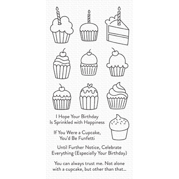 My Favorite Things ALL THE CUPCAKES Clear Stamps cs489