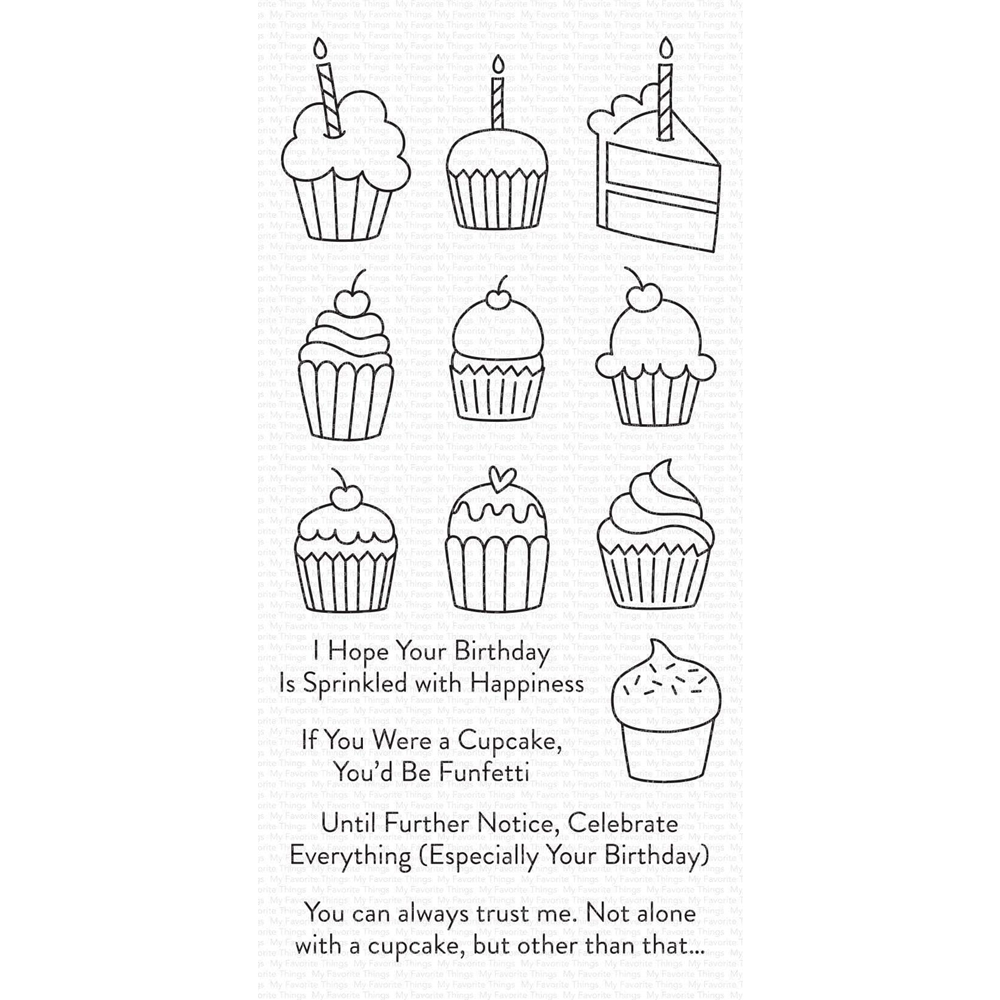 My Favorite Things ALL THE CUPCAKES Clear Stamps cs489 zoom image