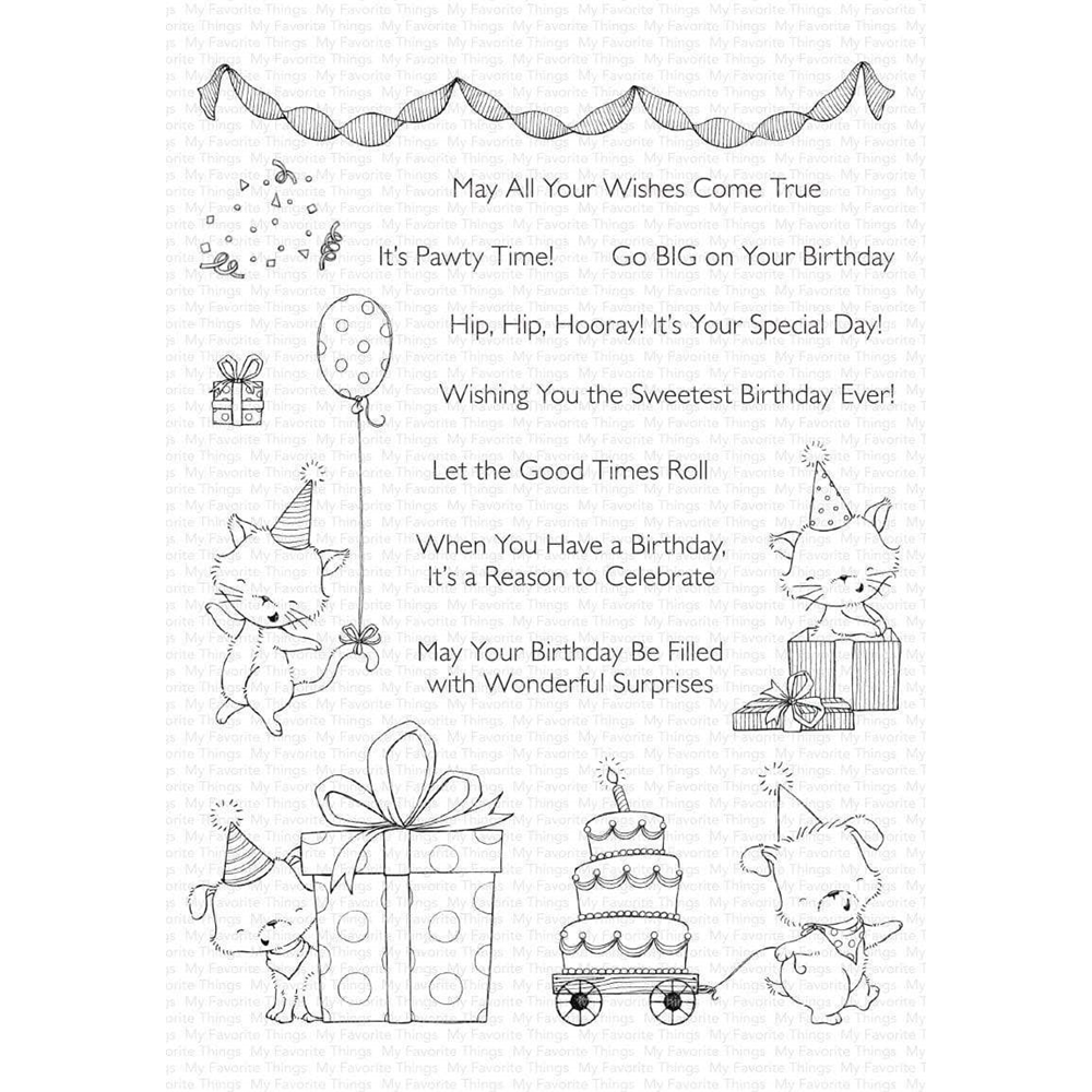 My Favorite Things PAWTY TIME Clear Stamps sy23 zoom image