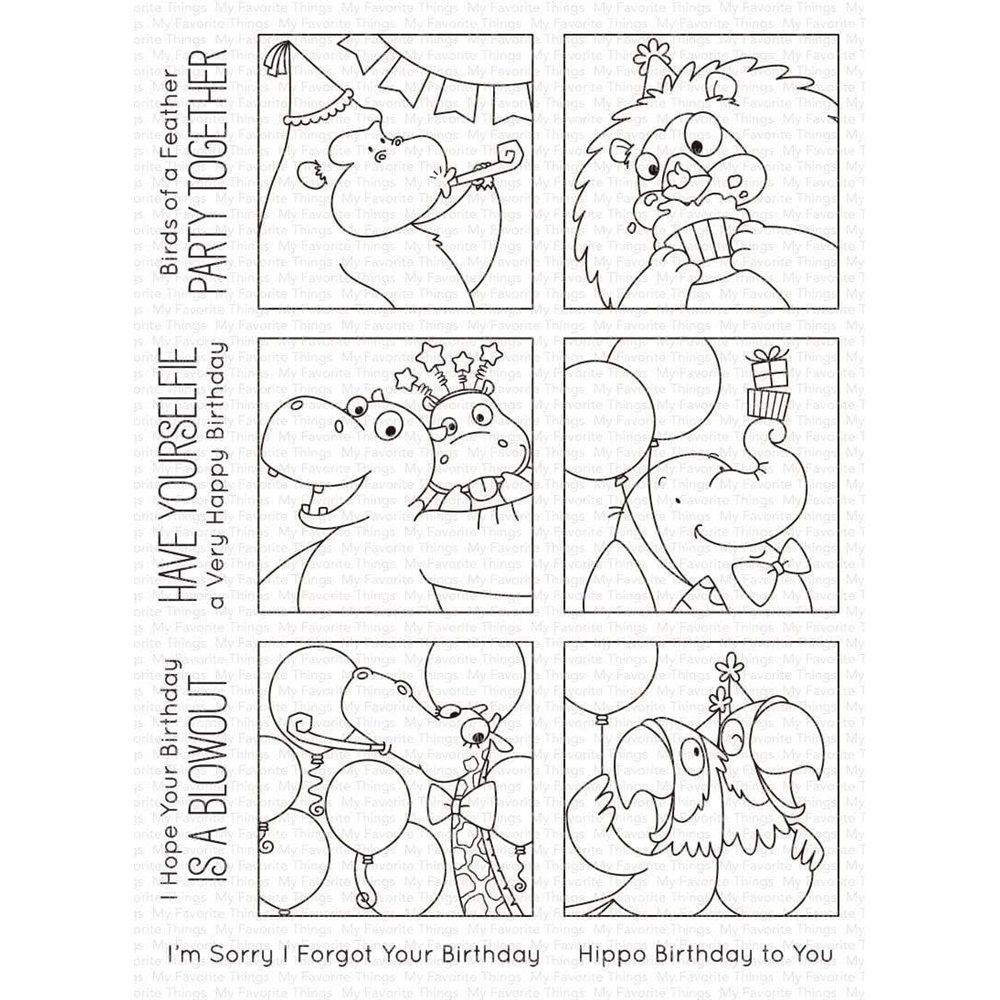 My Favorite Things PICTURE PERFECT PARTY ANIMALS Clear Stamps bb106 zoom image