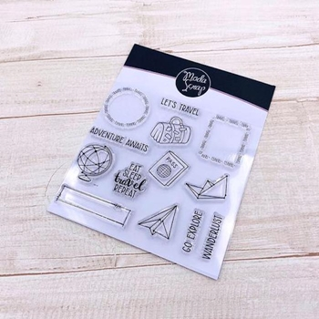 ModaScrap Clear Stamps POSTAGE TRAVEL mstc1040
