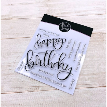 ModaScrap Clear Stamps HAPPY BIRTHDAY mstc1041