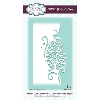 Creative Expressions O CHRISTMAS TREE EDGER Paper Cuts Collection Dies cedpc1127