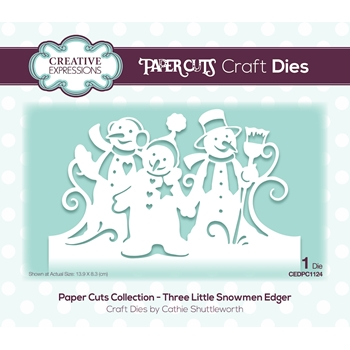 Creative Expressions THREE LITTLE SNOWMEN EDGER Paper Cuts Collection Dies cedpc1124