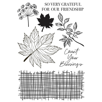 Kaisercraft FALLEN LEAVES Clear Stamps cs381