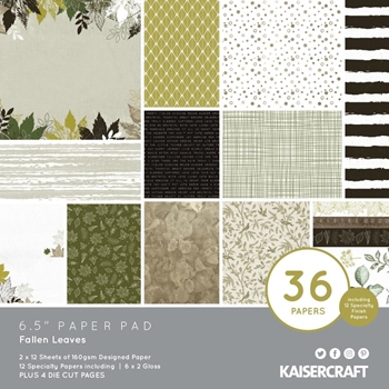 Kaisercraft FALLEN LEAVES 6.5 x 6.5 Inch Paper Pad pp1087