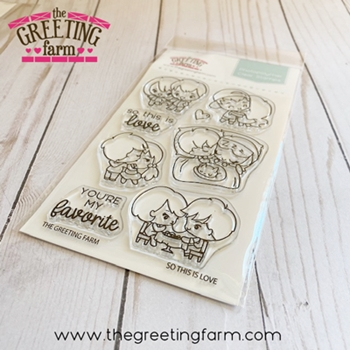 The Greeting Farm SO THIS IS LOVE Clear Stamps tgf559