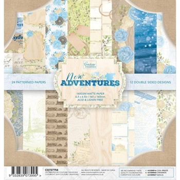 Couture Creations NEW ADVENTURES 6.5 x 6.5 Paper Pad co727754