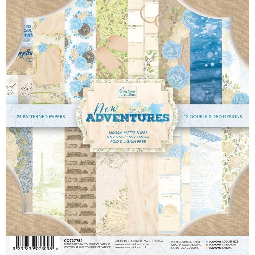 Couture Creations NEW ADVENTURES 6.5 x 6.5 Paper Pad co727754* zoom image