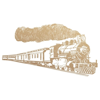 Couture Creations TRAIN Mini Clear Stamp Set co727781