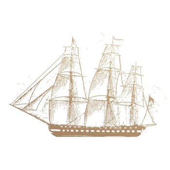 Couture Creations SAILBOAT Mini Clear Stamp Set co727782