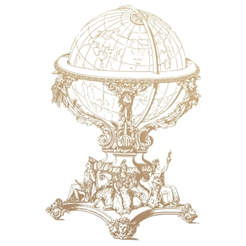 Couture Creations VINTAGE GLOBE Mini Clear Stamp Set co727784