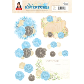 Couture Creations NEW ADVENTURES A4 Decoupage Sheet co727802