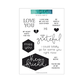 Concord & 9th HEY BESTIE Clear Stamps 10942