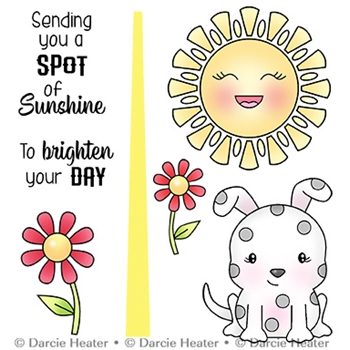 Darcie's SPOT OF SUNSHINE Clear Stamp Set pol463