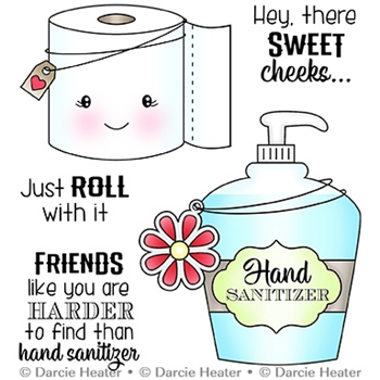 Darcie's ROLL WITH IT Clear Stamp Set pol464