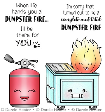 Darcie's DUMPSTER FIRE Clear Stamp Set pol465 Preview Image