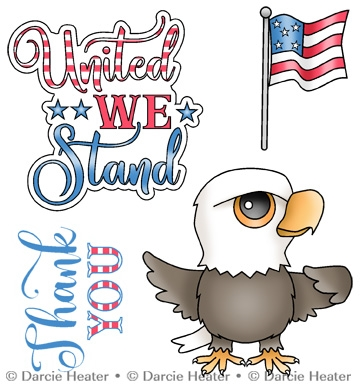 Darcie's UNITED WE STAND Clear Stamp Set pol466 Preview Image
