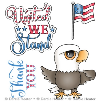 Darcie's UNITED WE STAND Clear Stamp Set pol466