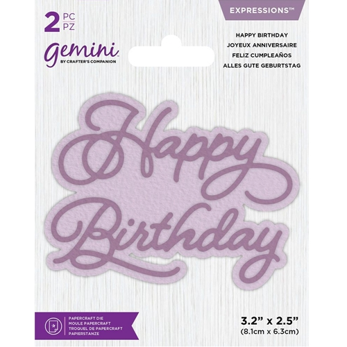 Gemini HAPPY BIRTHDAY Die gemmdexphap Preview Image